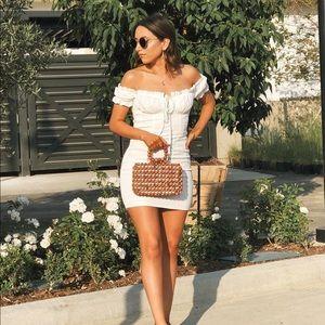 Windsor white smoked mini dress